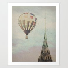 Balloon over the Chrysler Art Print