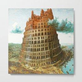 Pieter Bruegel the Elder's The Tower of Babel Metal Print
