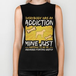 Wirehaired Pointing Griffon Funny Dog Addiction Biker Tank