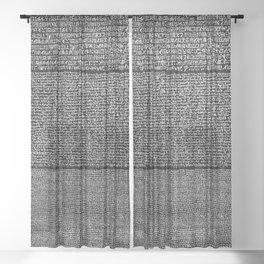 The Rosetta Stone // Black Sheer Curtain