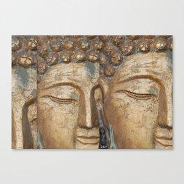 Golden Faces Of Buddha Canvas Print
