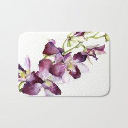 Radiant Orchids: Magenta Dendrobiums Bath Mat