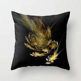 Spiral Swarm Throw Pillow