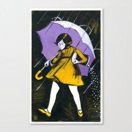 "Miss Morton (2010), 17"" x 27"", acrylic on gesso on chipboard Canvas Print"