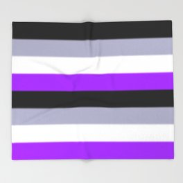 Asexual Pride Flag v2 Throw Blanket