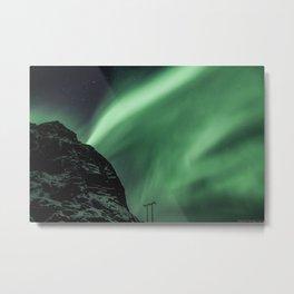 Aurora in Lofoten, Norway Metal Print