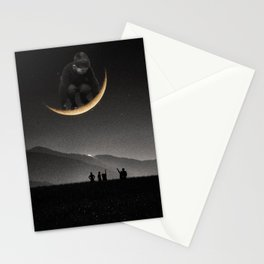 Ride on the moon Stationery Cards