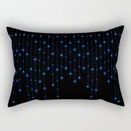 Blue Chandelier Rectangular Pillow