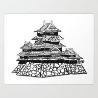 The Black Castle  Art Print