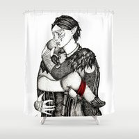 best friends Shower Curtains featuring Best friends by Anca Chelaru