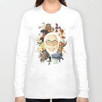 miyazaki Long Sleeve T-shirts featuring Miyazaki-San by Danny Haas