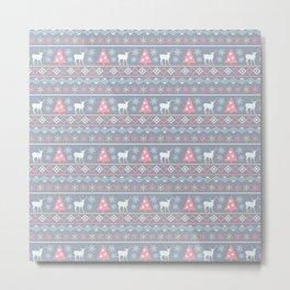 Pastel Nordic Pattern  Metal Print