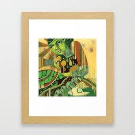 Green Music Framed Art Print