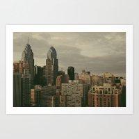philadelphia Art Prints featuring Philadelphia by Katie Leva