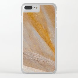 Golden mountain slopes Clear iPhone Case