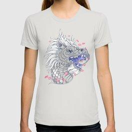 White Chinese dragon T-shirt