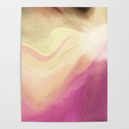 Orchid Pastel Abstract Poster