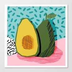 Choice - wacka memphis throwback retro neon fruit avocado vegetable vegan vegetarian art decor Canvas Print