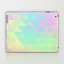 Holographic geometric vector background. 80s and 90s fashion design Laptop & iPad Skin