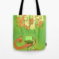 yoshi Tote Bags featuring Yo Yoshi! by Krissy Diggs