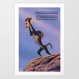 Whenyagonnaorderpizzabrah Art Print