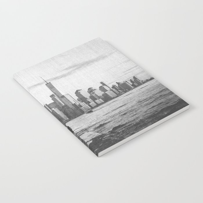 New York City Skyline Views and Vibes Black and White Notebook