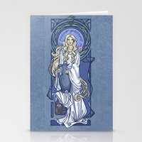nouveau Stationery Cards featuring Galadriel Nouveau by Karen Hallion Illustrations