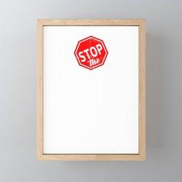 Stop The Fascists Framed Mini Art Print