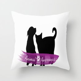 Animal Abuse Awareness Throw Pillow