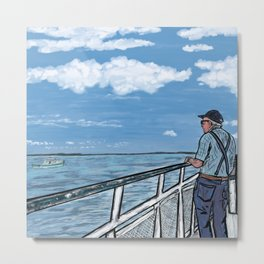 Ferry Ride Illustration Metal Print