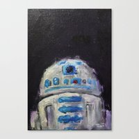 r2d2 Canvas Prints featuring r2d2 by Thad Taylor Art