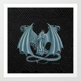 """Dragon Letter M, from """"Dracoserific"""", a font full of Dragons Art Print"""