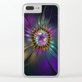 Fantasy Flower Fractal Clear iPhone Case