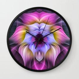 flower butterfly Wall Clock