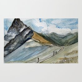 Mountain trek Rug