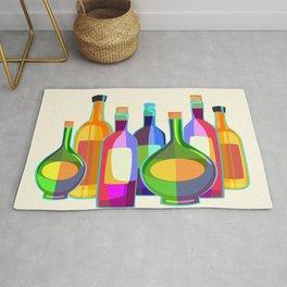 Colored Glass Bottles Rug