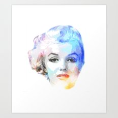 The Blond Bombshell Art Print