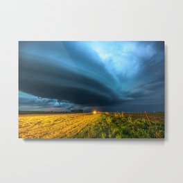 UFO - Storm After Dark in Southern Oklahoma Metal Print