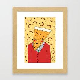 Pizza Head Framed Art Print