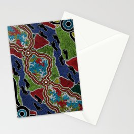 Aboriginal Art Authentic - Walking the Land Stationery Cards