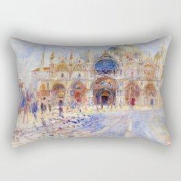 Pierre Auguste Renoir - The Piazza San Marco, Venice Rectangular Pillow