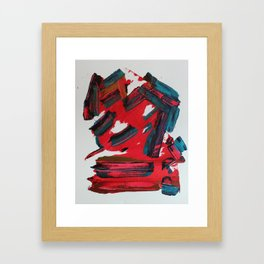 Alien Or Man Minimalist Abstract Painting Framed Art Print