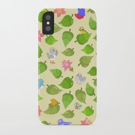 birds&leaves iPhone Case
