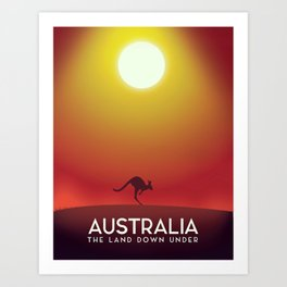 Australia travel poster. Art Print