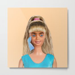 Quarantine Doll Metal Print