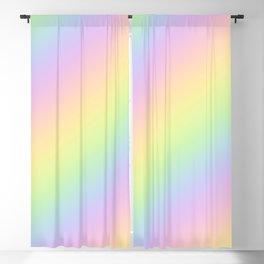 Pastel Goth Rainbow Blackout Curtain