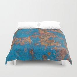 Rust on blue background Duvet Cover