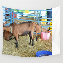 Family of Domestic Goats Wall Tapestry