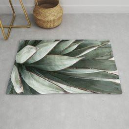 Cactus Leaves // Green Southwest Home Decor Vibes Desert Hombre Plant Photograph Rug