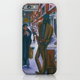 Portrait of Harlem, NY African American Masterpiece by E. Burra iPhone Case
